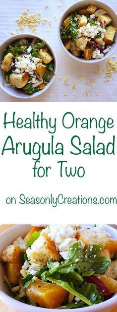 Healthy Orange Arugula Salad for Two