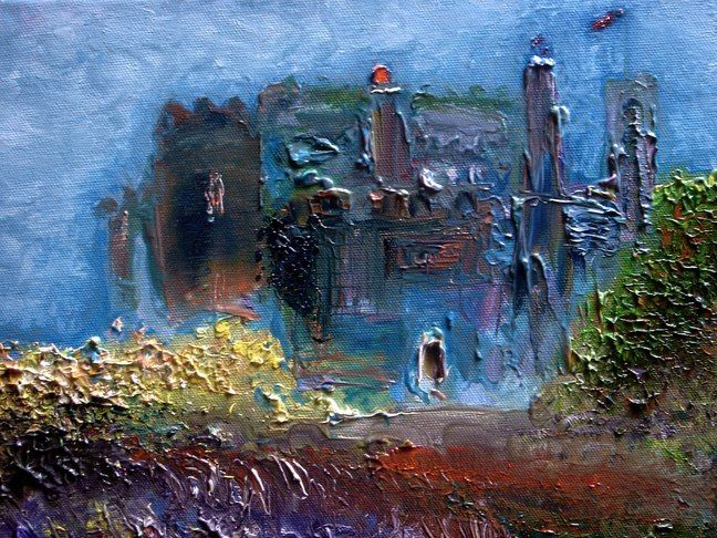 abstract castle painting - Google Search