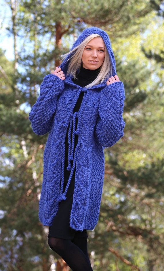 Instant Download PDF pattern. Hand knitted hooded cable knit sweater. Digital pattern from Ilze Of Norway. (0106)