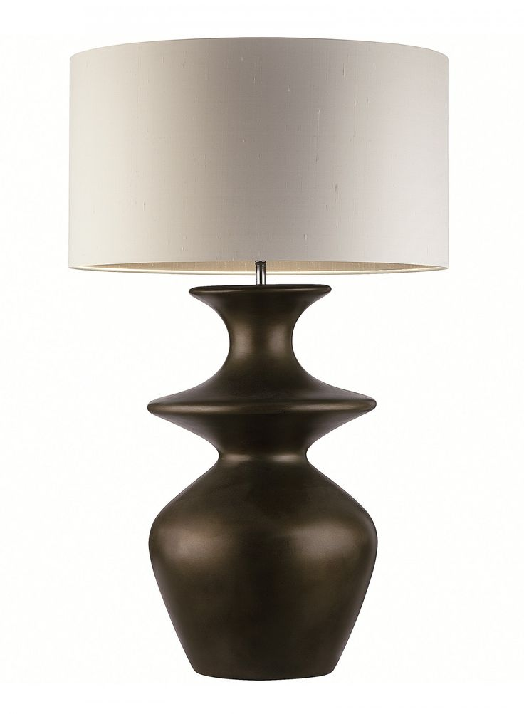 Aspen Bronze Table Lamp Table Lamp With Voluptuous Ceramic Form Hand Finished In Burnished Bronze