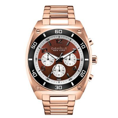 Caravelle New York - Men\'s Clark Rose Chronograph Watch - 45A110 - RRP: £129.00 - Online Price: £109.00