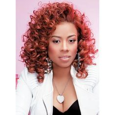Keyshia Cole, Red-Orange Curly Hair | Pinterest ❤ liked on Polyvore featuring red hair