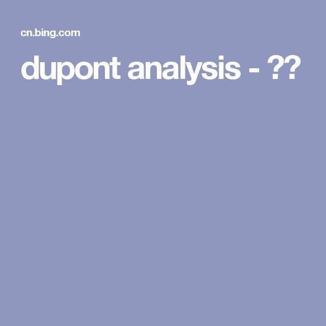 dupont analysis - 必应