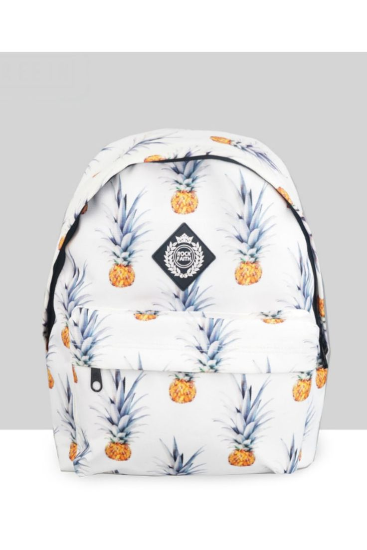 Harajuku Fashion Pineapple Backpack In White