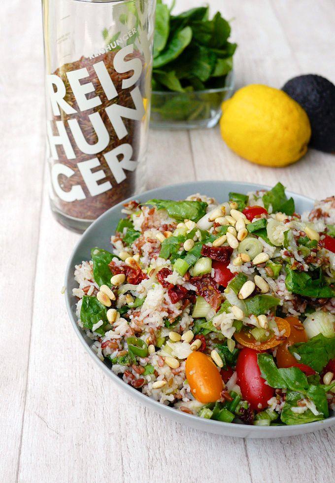 Reishunger Reissalat mit rotem Reis und Basmatireis