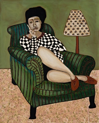 John Baird - Women on sofa
