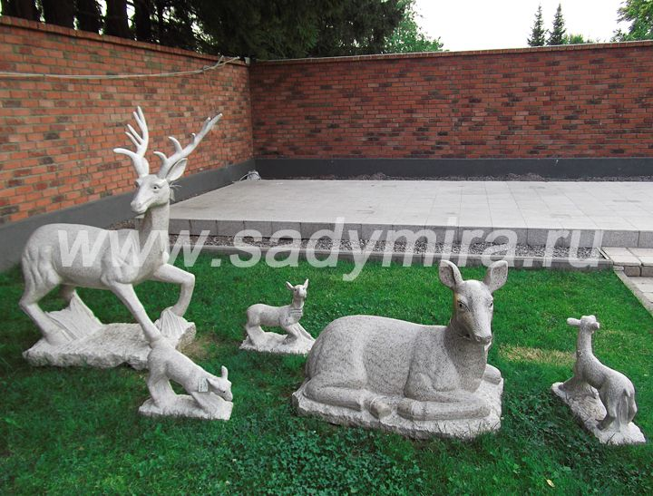 Олени каменная скульптура - продажа