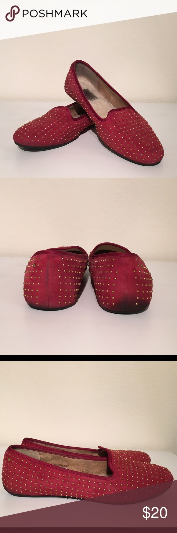 Ugg Suede Studded Loafers Ugg suede loafers. Insole shows signs of wear, but still in great condition. UGG Shoes Flats & Loafers