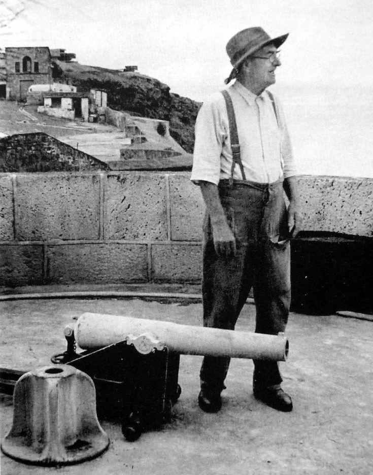 Beside a Muzzle-loader Stands the Last Boer Prisoner. Saint Helena Island Info Boer Prisoners