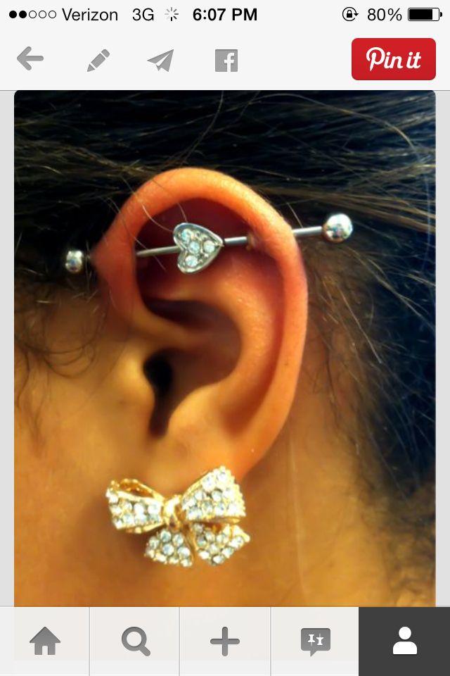love the industrial piercing .