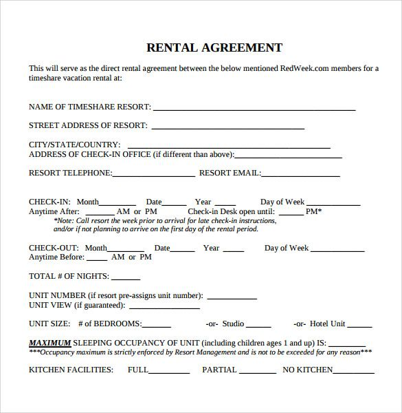 39 Excellent Rental Lease And Agreement Template Examples