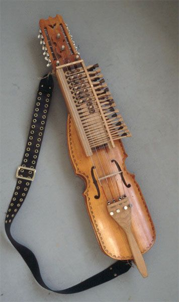 Sweden's medieval keyed-fiddle, the nyckelharpa.