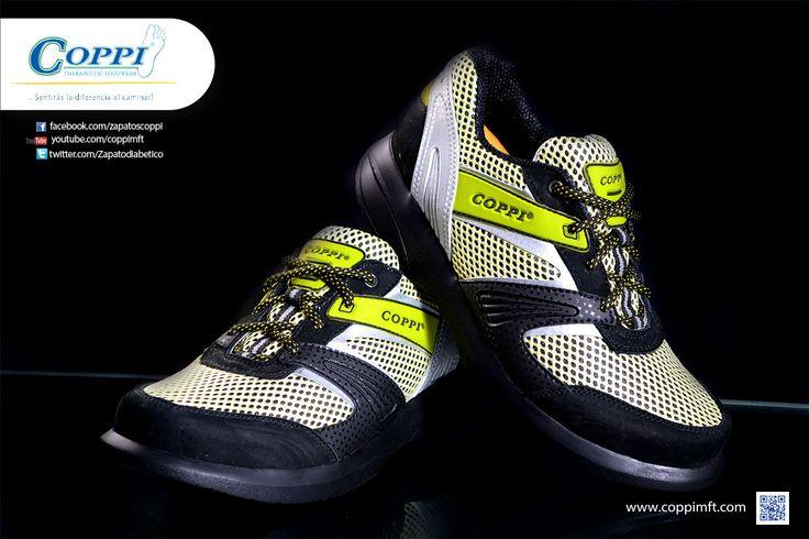 Zapatos para Diabéticos - Deportivos Doyle Amarillos x Negro x Gris. Para el cuidado de los pies, diabétes, artritis, reumatismo, artrosis, gota, espolón calcáneo, fascitis plantar y vena varice.