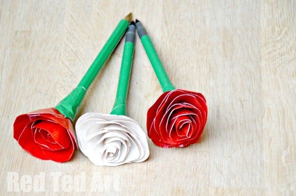 Duct Tape Rose Pens - How To