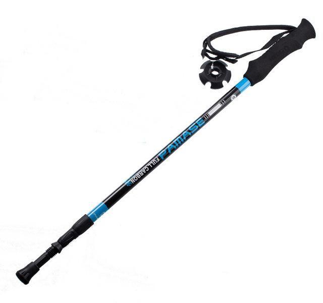 155g/pc carbon fiber walking stick hike telescope stick nordic walking stick for nordic walking poles trekking poles cane