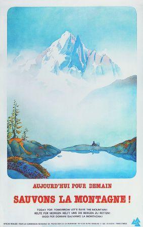 Sauvons la montagne ! - Affiche originale de Samivel (années 80)