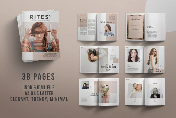 By posting these freebees I may earn a commission if you should choose to buy a product from Creative Market.  RITES MAGAZINE by Rits Studio on @creativemarket This is a free download this week! Enjoy! Very beautiful layouts.