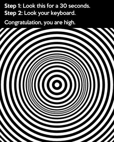 Congratulations, you are high!