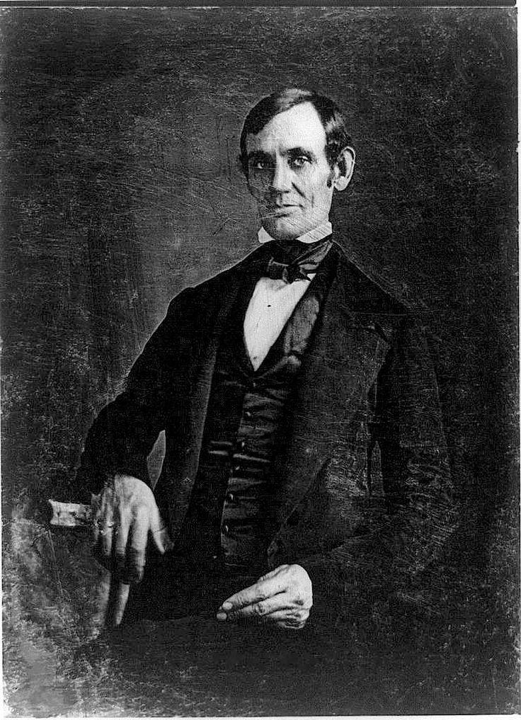 Congressman-Elect Abraham Lincoln in his late 30s. Springfield, Illinois Late 1840s.
