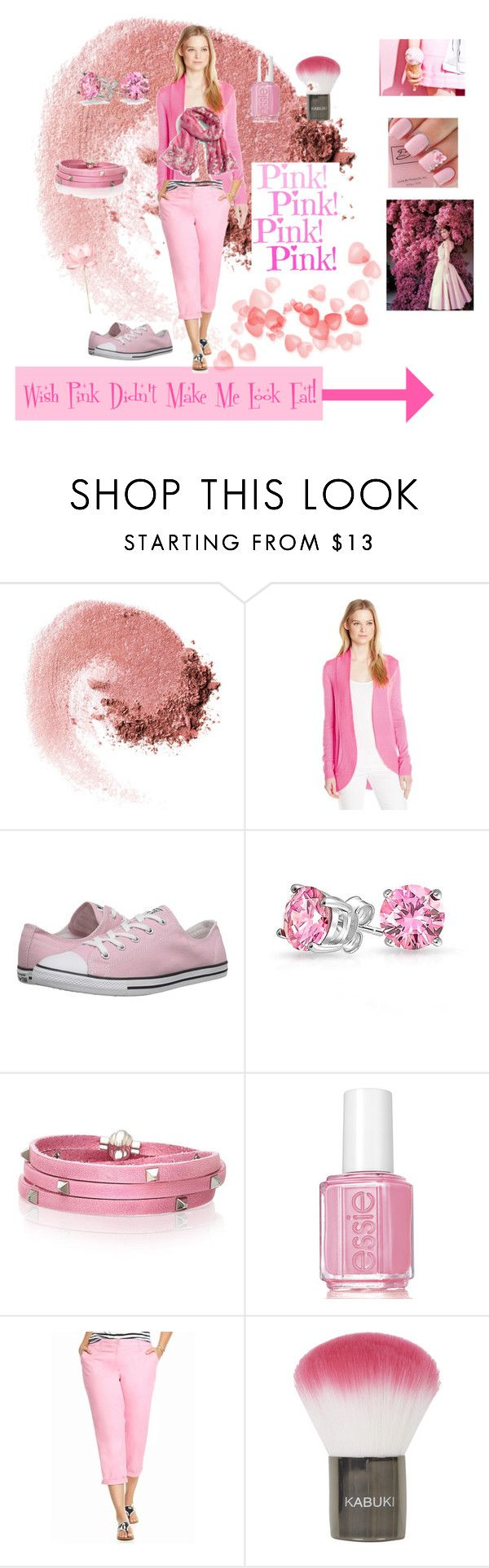 """""""Wish pink didn't make me look fat!"""" by vickerlini ❤ liked on Polyvore featuring NARS Cosmetics, Lilly Pulitzer, Converse, Bling Jewelry, Sif Jakobs Jewellery, Essie, Crown & Ivy, Topshop, Vera Bradley and plus size clothing"""