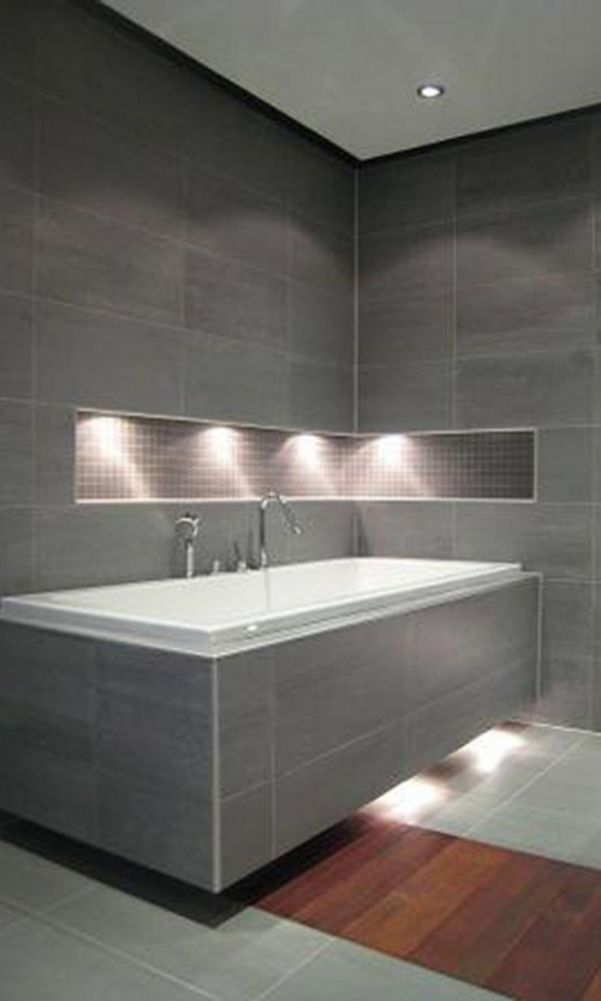 60 Beautiful Gray Bathroom Ideas With Stylish Color Combinations 2020 Page 5 Of 60 My Home Design B In 2020 Grey Bathrooms Bathroom Decor Bathroom Interior Design