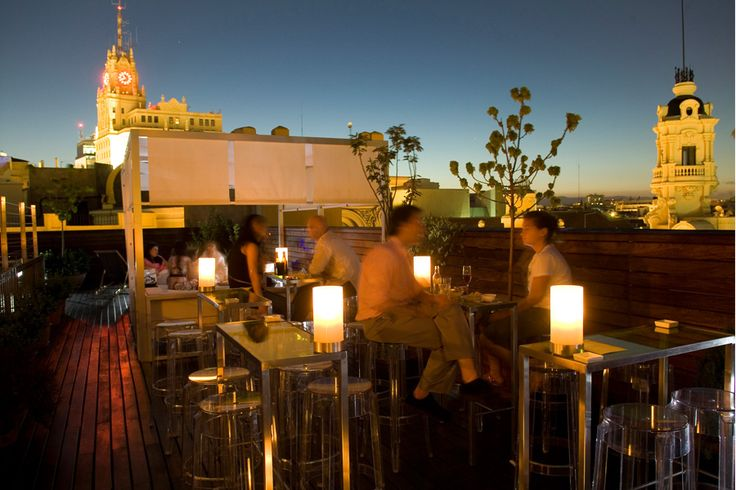 Cool rooftop bar in Madrid  Hotel de las letras.