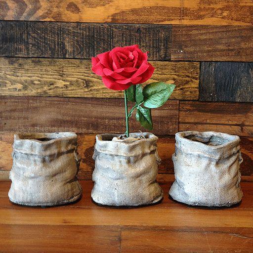 Cement Sack Planter - Small