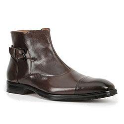 Bruno Magli Arcadia Mens Shoes Dark Brown Italian Leather Boots(BM1001)