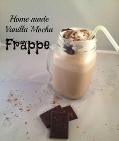 Homemade Vanilla Mocha Frappe Recipe - healthier version of McDonald's Frappe
