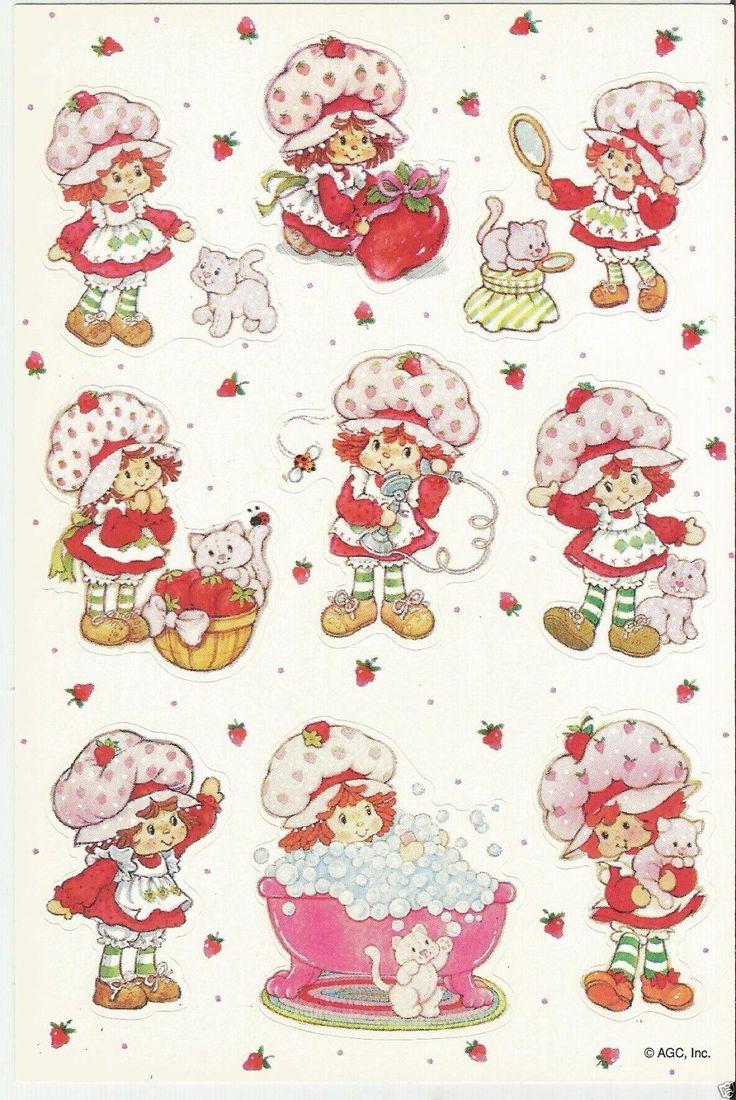 Vintage Kenner Strawberry Shortcake SSC Sticker Sheet
