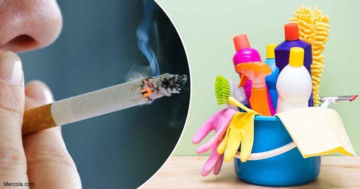 Se estima que ahora el 50% de la contaminación atmosférica es debido a los compuestos orgánicos volátiles y los COV en los suministros de limpieza. https://articulos.mercola.com/sitios/articulos/archivo/2018/03/07/los-productos-de-limpieza-son-tan-malos-como-fumar.aspx?utm_source=espanl&utm_medium=email&utm_content=art1&utm_campaign=20180307&et_cid=DM191086&et_rid=234819899