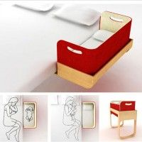 You could totally make thisCo Sleeper, Baby Beds, Cool Ideas, Belly Cosleeper, Kids, Belly Co Sleep, Culla Belly, Baby Belly, Baby Stuff