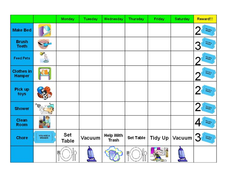 Best Chore Charts Images On   Kid Chores Charts For