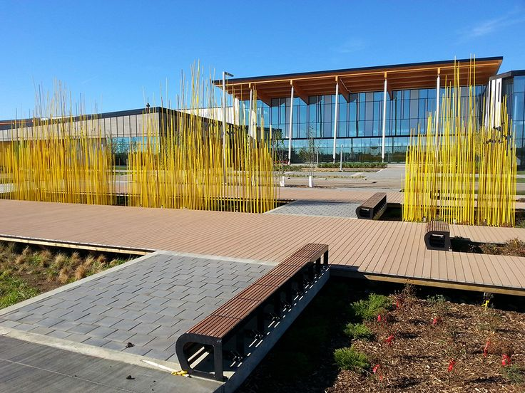Konstantin Dimopoulos | Wheatfield With Crows 2014 | Meadows Recreation Centre | Edmonton, Canada | 5 forms: 2 forms 2.4-7 x 6 x 1.2m |  8-23 x 20 x 4ft; 3 forms 1.8-6 x 3 x 1.2m; 6-20 x 10 x 4ft | high-performance composites, paint