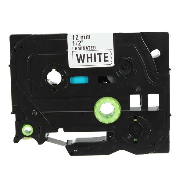 Black on White Label Tape For Brother P-Touch Label Maker 12mm TZ 231