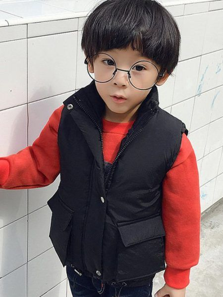Black Fashion Casual Kids Vest for Boy