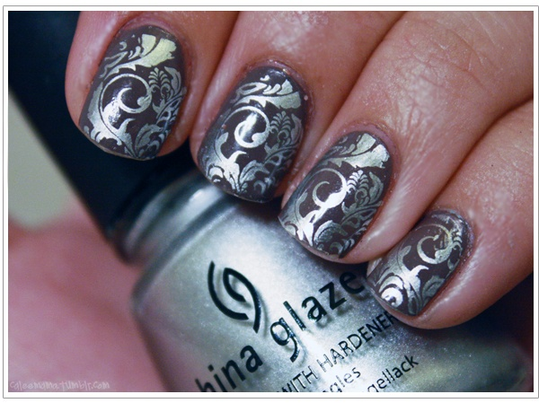ayered China Glaze Millennium over Essie's Merino Cool and used image plate BM21 from the Bundle Monster Nail Art Stamping Set. I can't wait to get my set! It includes 21 image plates (about 7 designs per plate)