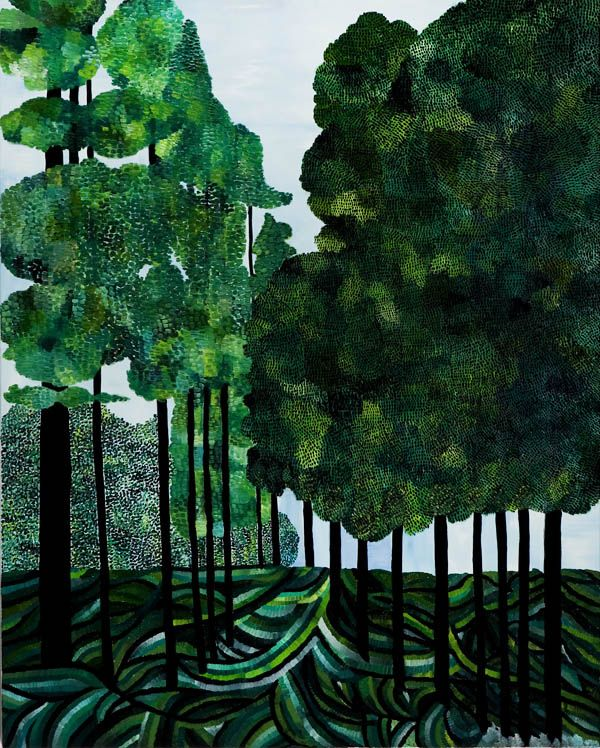 Forest, 2012, oil on linen, 100 x 80 cm.  From Sally Ross' current exhibition at Murray White Room in Melbourne.