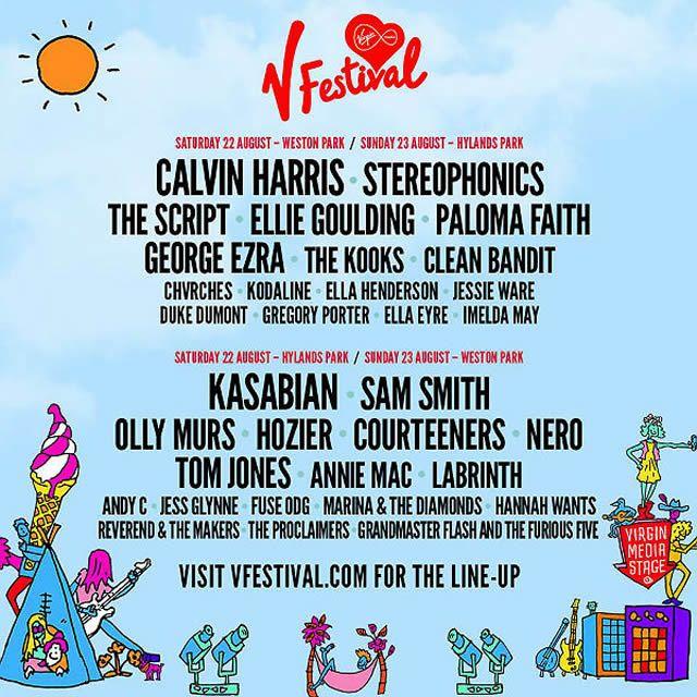 V festival 2015 line up poster