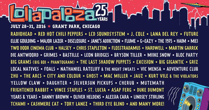 Build your Lollapalooza schedule now.