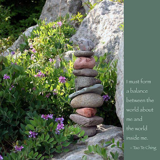 Tao Te Ching Quotes   Heidi Hermes › Portfolio › Balancing Stones With Tao Quote
