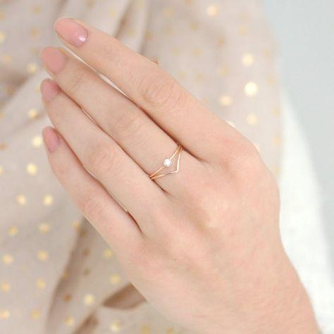 Ausgefallene diamantringe  Die besten 25+ kleine Diamantringe Ideen auf Pinterest | kleine ...