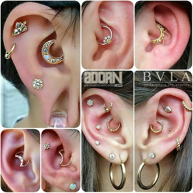 Migraine miracle or not, it's obvious that #daith piercings are the hottest new ear trend! With so many unique ways to wear this striking piercing, @AdornBodyArt has you covered for all your dreamy daith jewelry needs.