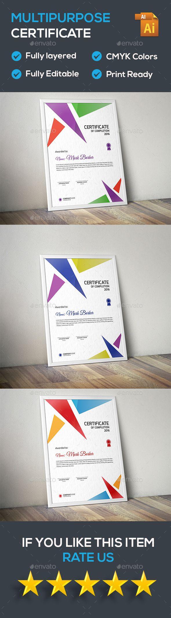 Certificate Template Vector EPS. Download here: https://graphicriver.net/item/certificate/16858405?ref=ksioks