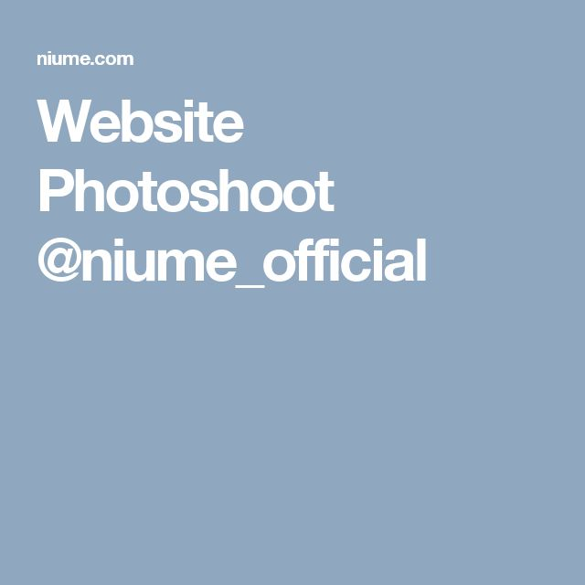 Website Photoshoot @niume_official
