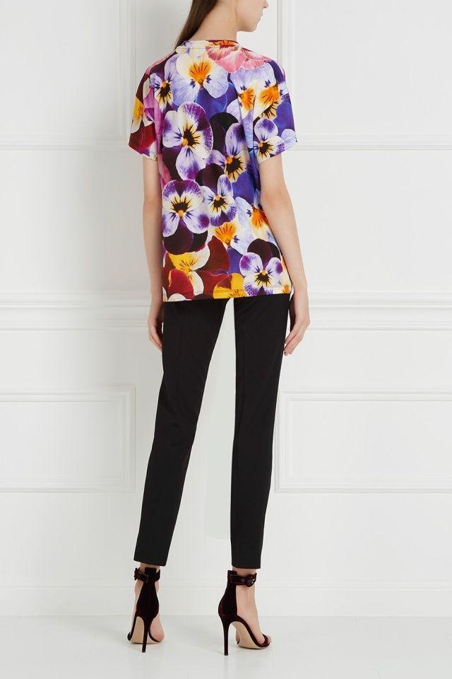 Хлопковая футболка Christopher Kane - Футболка британского дизайнера Christopher Kane в интернет-магазине модной дизайнерской и брендовой одежды