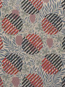Liubov Popova design on William Morris #wallpaper, by David Mabb. England, 2010. l Victoria and Albert Museum
