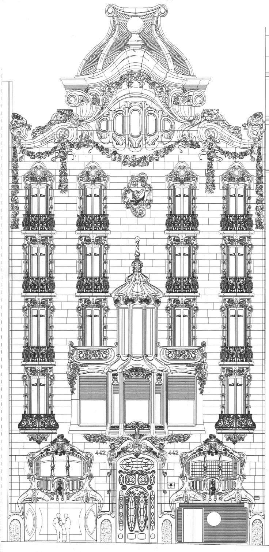 Casa comalat fachada diagonal barcelona spain art - Art deco barcelona ...