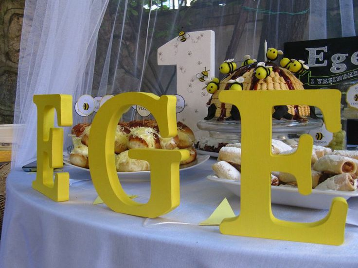 bee 1st birthday party , 1.doğum günü partisi, arı temalı doğum günü, 1.yaş günü,1st birthday party decorations, wood letters, birthday wood letters