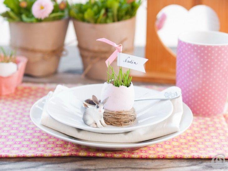 Pasqua idee per decorare con allegria e in maniera originale le nostre case.  Racconti per immagini :: Idee per addobbare la tavola pasquale